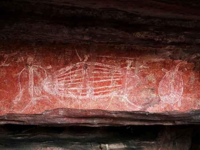 5. ADMIRE LEGENDARY ROCK-ART Nourlangie Rock and the Anbangbang billabong feature heavily in Crocodile Dundee, providing a perfect opportunity for 'Mick' Dundee to show American journalist, Sue Charlton, Kakadu's rich wildlife and his outback 'skills'. Nourlangie houses some of Kakadu's most historic rock art. Paintings such as Namarrgon (Lightning Man) explore the relationship of the people to their country and belief. The paintings illustrate the important stories, food sources, wars and mythological figures and can be viewed as part of a 1.5 km circular walk. Free guided walks are offered by Park rangers during much of the year, where you will discover how indigenous people developed grinding stones for crushing seeds and later used the stones to crush ochre for painting. Climb to the top of the rock for sweeping views of the escarpment, while you can follow in Hoges' footsteps through the paperbark forest on the Anbangbang Billabong Walk.