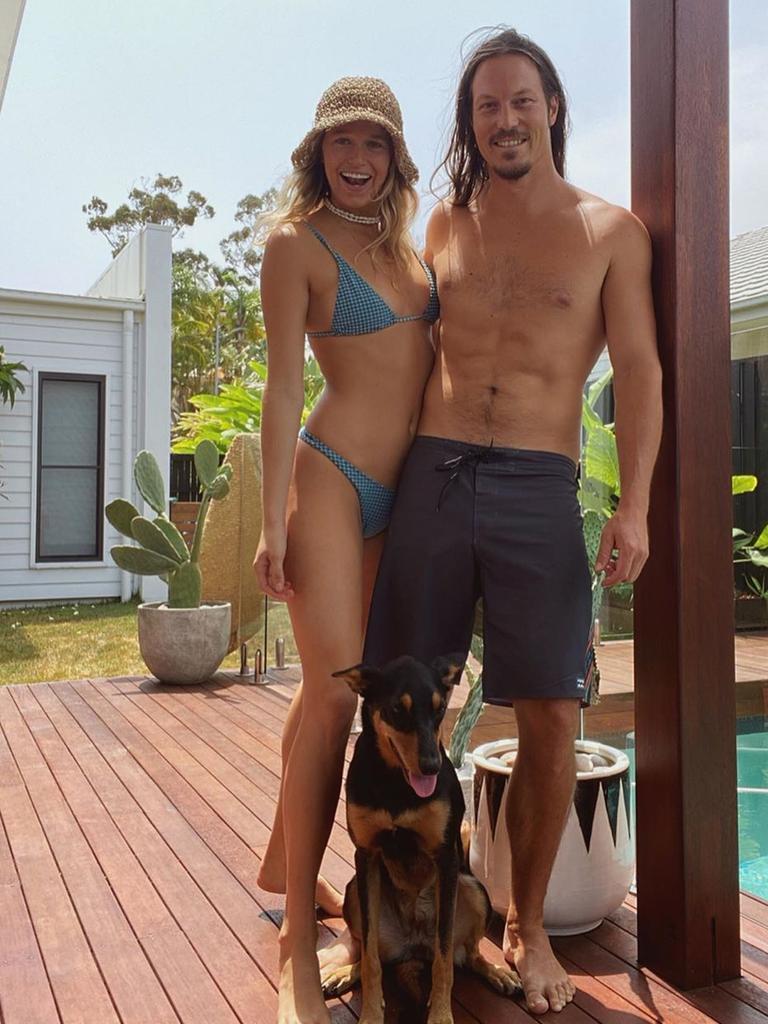 Alex 'Chumpy' Pullin with partner Ellidy Vlug - Photo Supplied Instagram