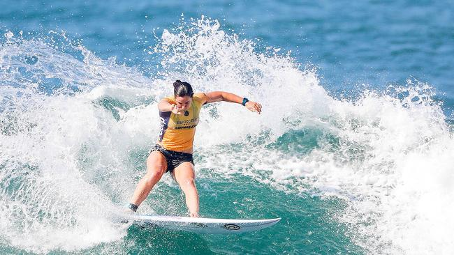 Photographers are being asked not to zoom in on female surfers. Picture: News Corp Australia