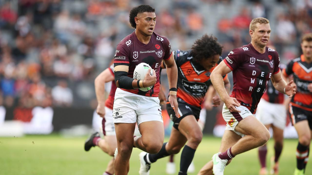 Haumole Olakau'ata has been a revelation this season, and the Sea Eagles have locked him down until at least the end of the 2024 season. Picture: Matt King/Getty Images