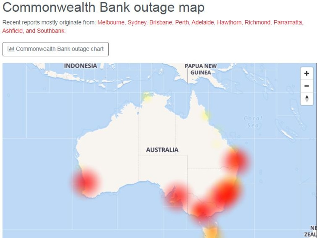 People all across the country are experiencing issues. Picture: Down Detector/Supplied