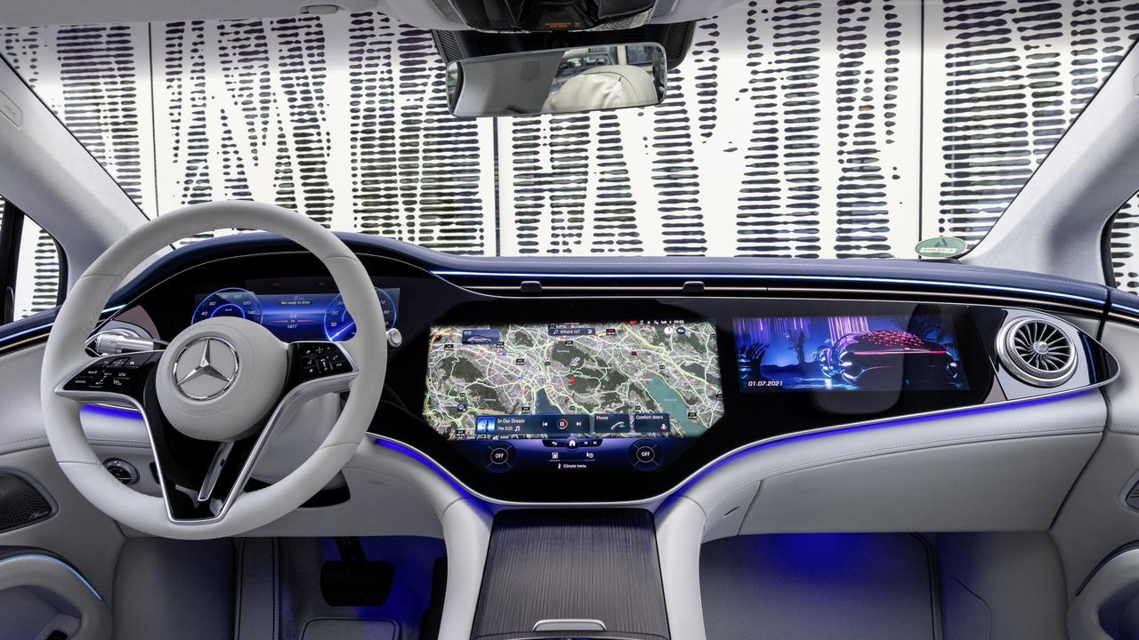 The entire dash is made up of screens. Picture: Supplied.