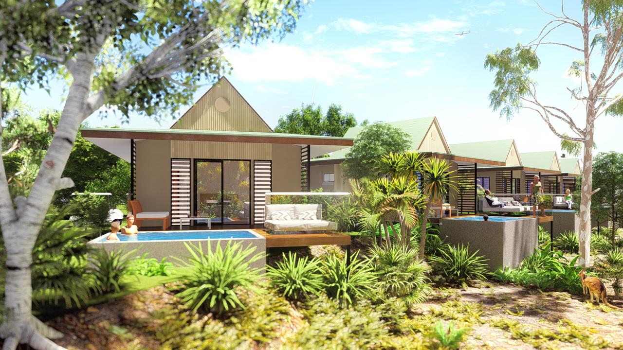 The resort will have private villas with their own plunge pools.