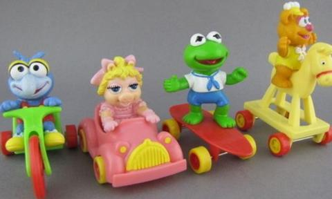 "<b>MUPPETS ON WHEELS</b><p>This four-piece set was free with every Happy Meal back in the day and will send any nugget-craving child of the 80s back to their childhood in a flash.</p><p>""I was packing some old toys the other day and came across Gonzo on his bike. It took me way back and I remember being so obsessed with getting Miss Piggy in her pink car. It was almost impossible to nab one – kind of like the kids with all of those rare Ooshies now,"" Leah says.</p><p><i>Image: Supplied</p></i>"