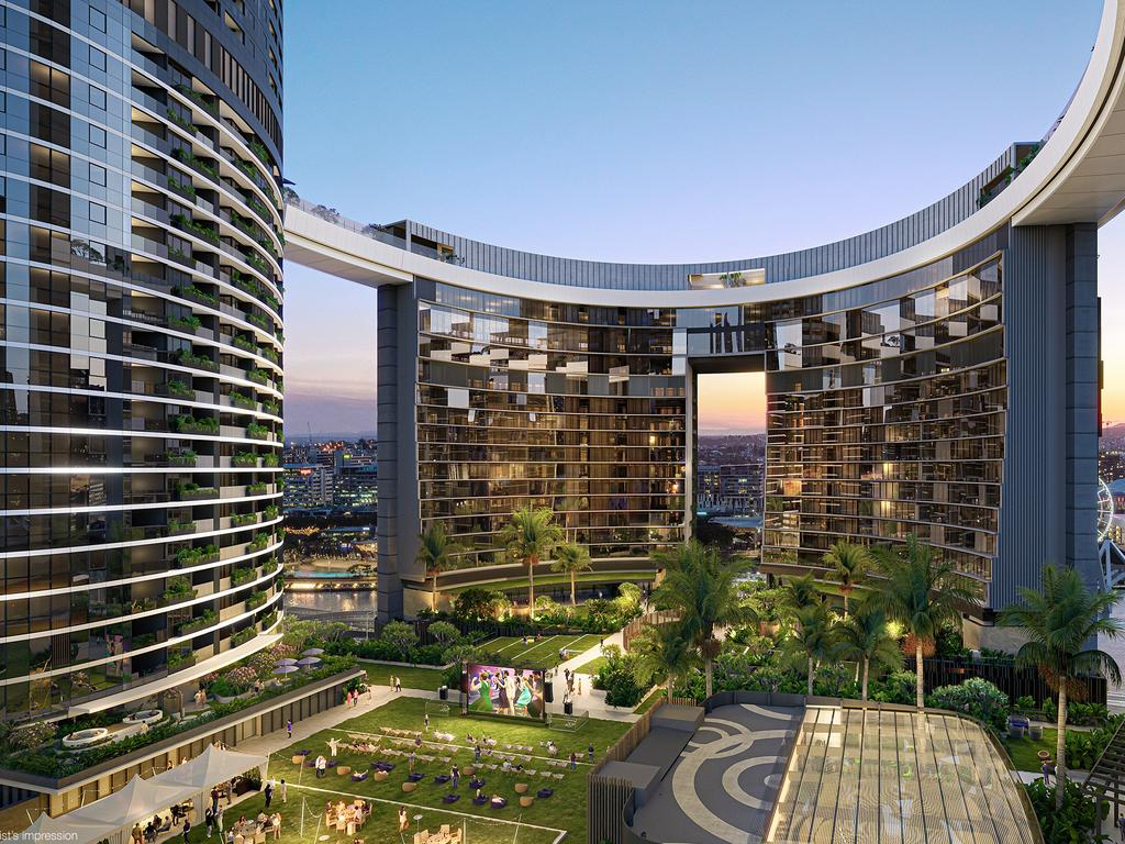 Queens Wharf residences are within the complex due to be completed by mid-2023. Picture: Supplied