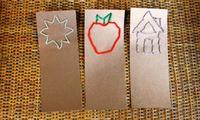 Make lacing bookmarks