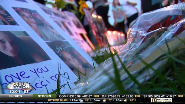"""Memorial held for domestic violence victim found """"in pieces"""""""