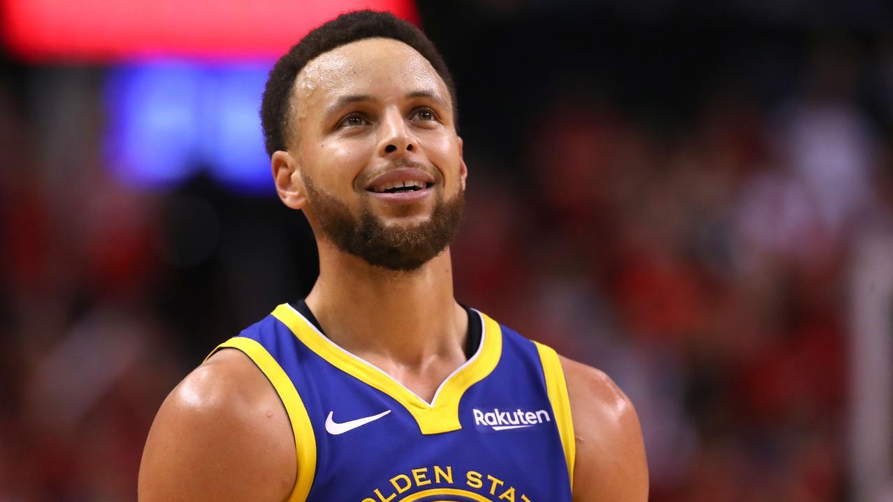 TORONTO, ONTARIO - JUNE 02: Stephen Curry #30 of the Golden State Warriors reacts against the Toronto Raptors in the second half during Game Two of the 2019 NBA Finals at Scotiabank Arena on June 02, 2019 in Toronto, Canada. NOTE TO USER: User expressly acknowledges and agrees that, by downloading and or using this photograph, User is consenting to the terms and conditions of the Getty Images License Agreement. Gregory Shamus/Getty Images/AFP == FOR NEWSPAPERS, INTERNET, TELCOS & TELEVISION USE ONLY ==
