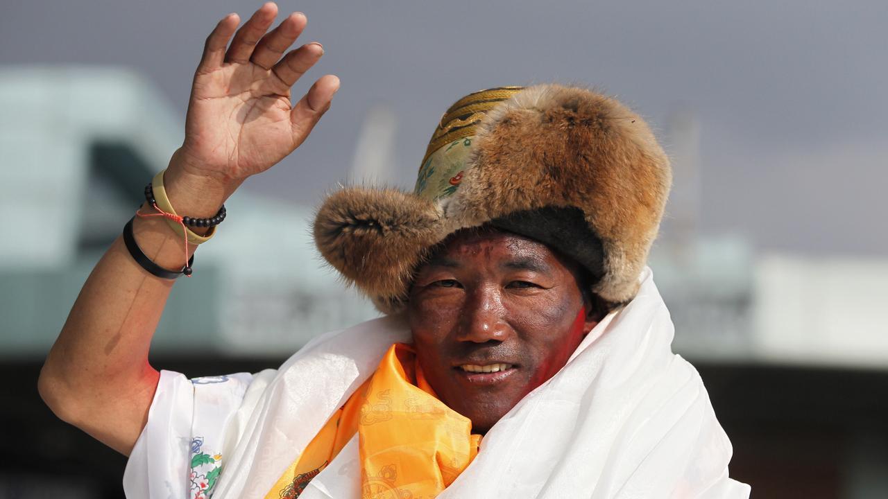 Kami Rita in May last year in Kathmandu, Nepal. Picture: AFP
