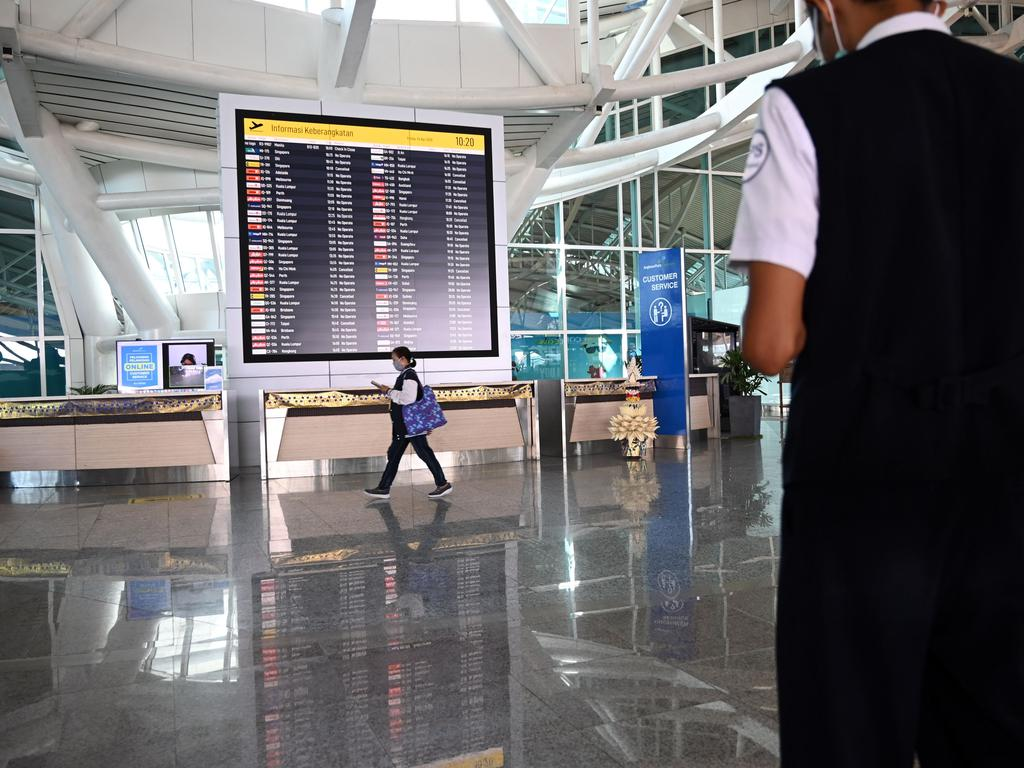 Foreign tourist arrivals into Indonesia plunged more than 60 per cent in March. Picture: SONNY TUMBELAKA / AFP.