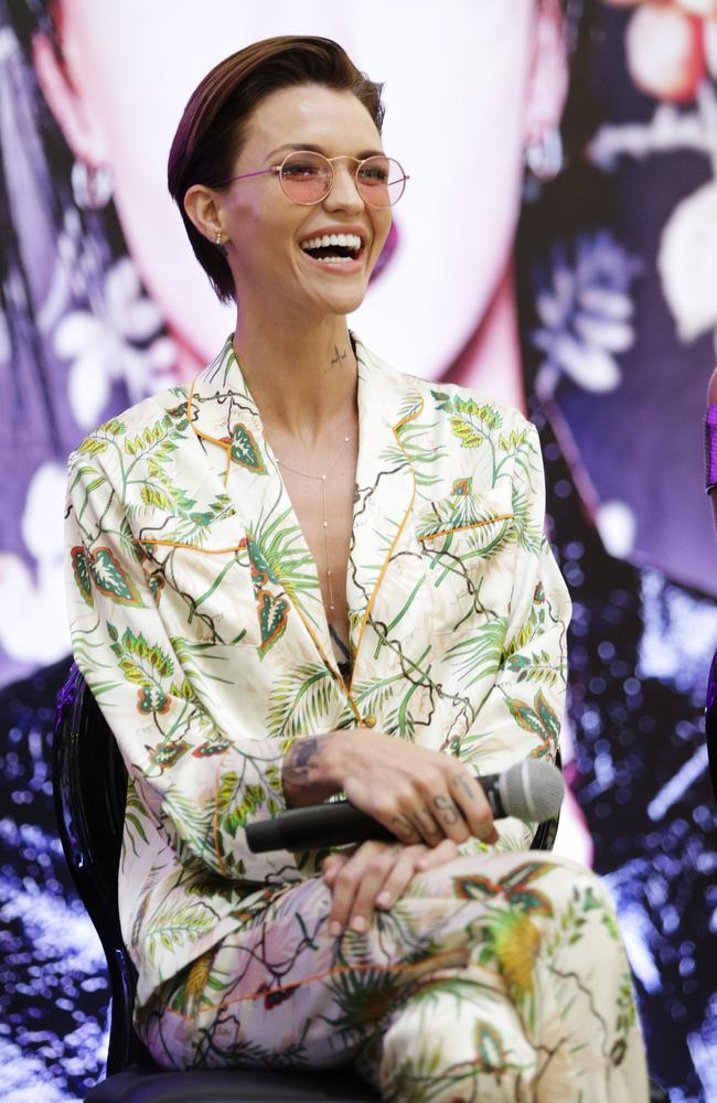 Ruby Rose looked every part the movie star as she made an appearance for Urban Decay at Westfield Chatswood yesterday. Picture: Justin Lloyd