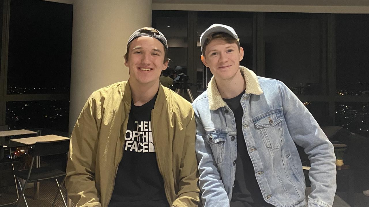 Not just your average teenagers. Lachlan Delchau-Jones (left) and Taylor Reilly (right) earned more than $70,000 at the height of Australia's lockdown.