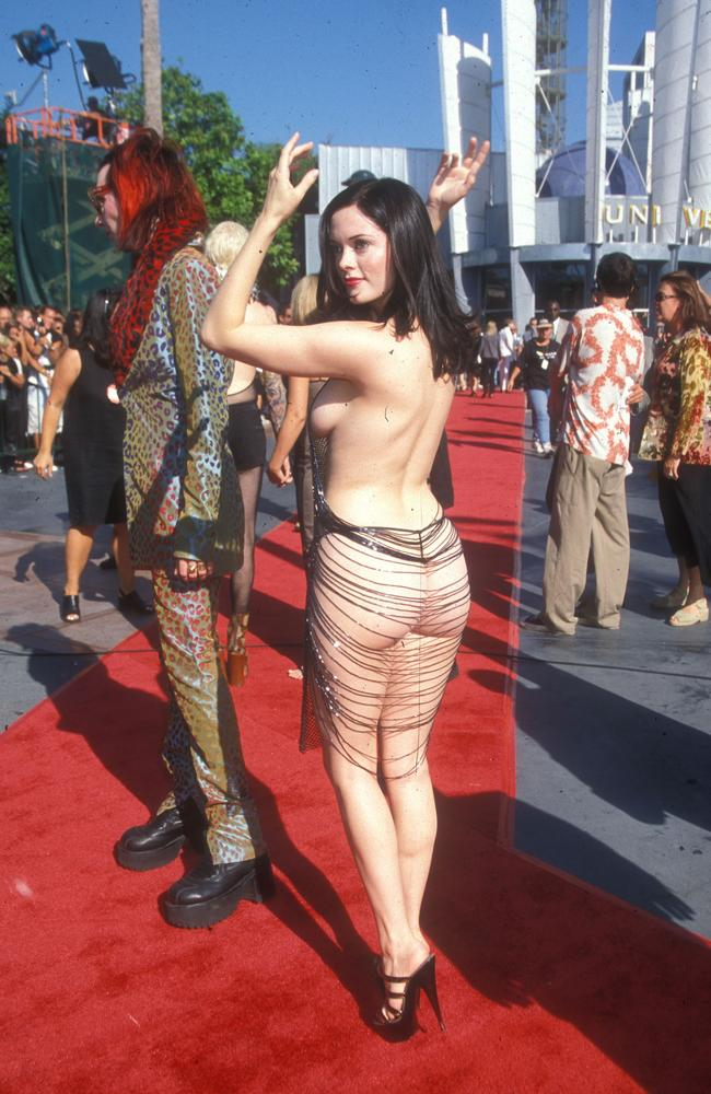 Who could forget this iconic moment from Rose McGowan? Picture: Barry King/WireImage