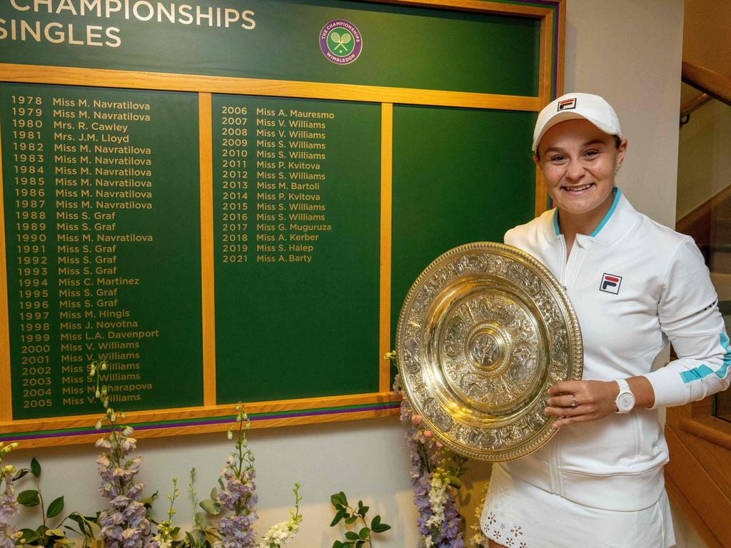 Barty cemented her status as a national hero.