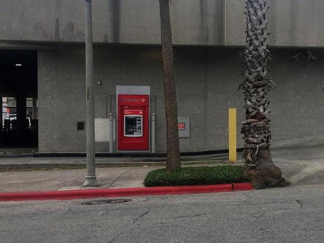 A man got stuck inside this Bank of America ATM. Picture: Kris6