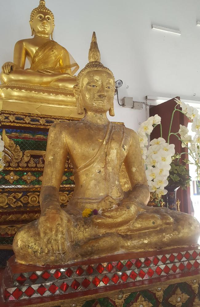 """The so-called """"Black Buddha"""" in Bangkok the couple were taken to. Picture: Dan Boland"""
