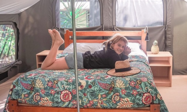 Evie camping