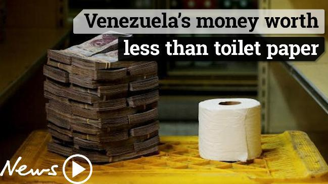 Venezuela's money is worth less than toilet paper.