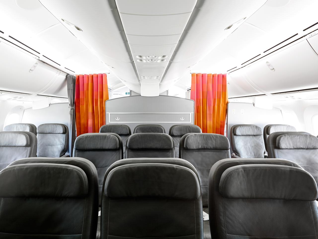 Business class seats and cabin on Jetstar 787 Dreamliner. Picture: Supplied