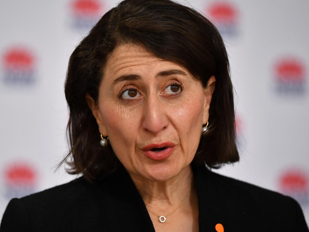 NSW Premier Gladys Berejiklian is expected to announce a four week lockdown extension. Picture: Joel Carrett-Pool/Getty Images