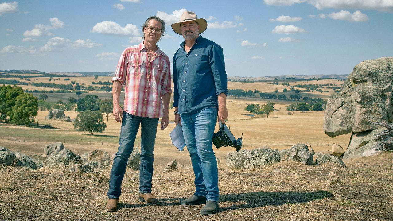 Pearce with the series creator and director, Ben Gartland. Picture: Supplied