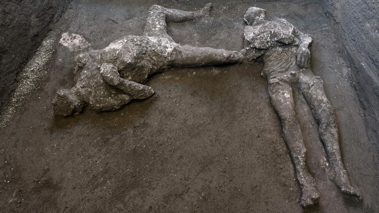 The bodies are of two men. Picture: AFP/Pompeii Archaeological Park/Luigi Spina
