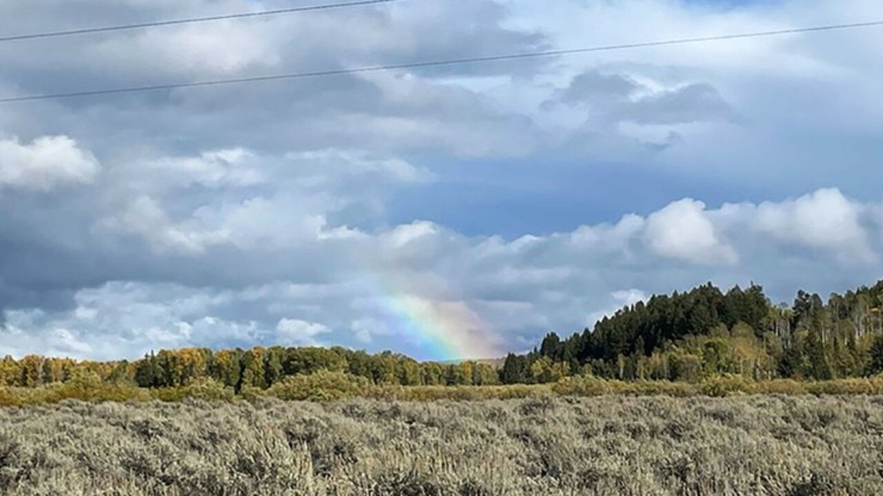 The rainbow appeared after the coroner left the site.