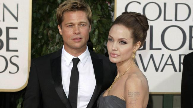 Brad Pitt has hit out at Angelina Jolie in their bitter custody war. Picture: AP Photo/Mark J. Terrill, File