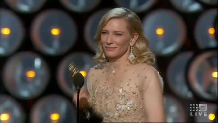 Cate wins and delivers this extraordinary speech