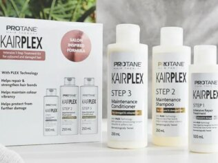 This Aldi dupe for Olaplex is only $20. Image: Aldi Australia