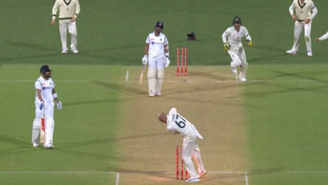 Virat Kohli was far from happy after just the second run out in his career.