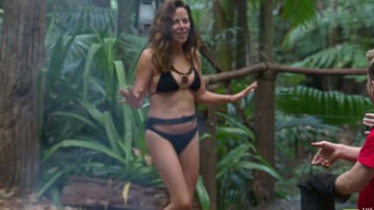 Look at her go! Toni Pearen stuns in a bikini. Picture: Channel 10