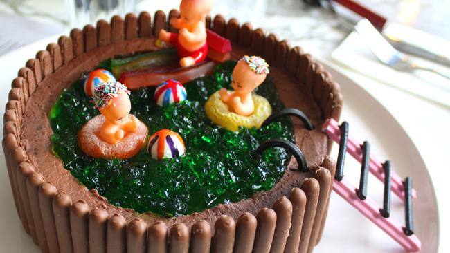There no doubt would have been a lot of competition to make this cake. The swimming pool is everyone's favourite.