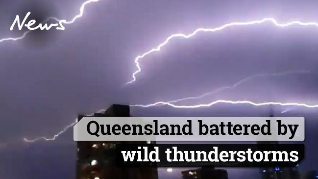 Queensland battered by wild thunderstorms