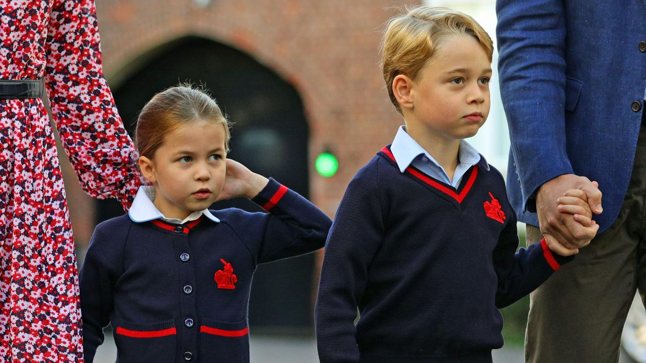 Princess Charlotte, Prince George and Prince Louis all live relatively press-free lives. Picture: Aaron Chown/POOL/AFP