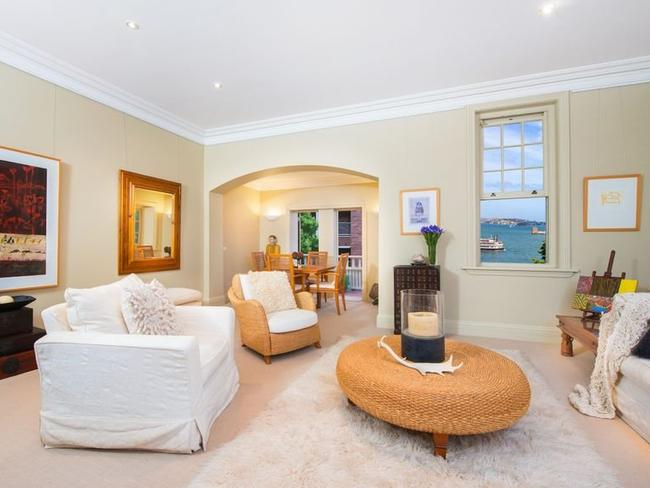 The lower level of the home has spacious open-plan living and dining areas.