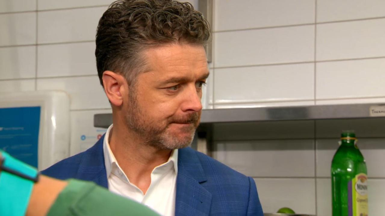 Jock is convinced the team's dish is orange, not red. Picture: Channel 10