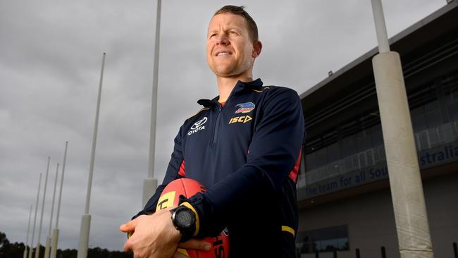 Adelaide Crows SANFL team coach Ryan O'Keefe. Picture: Naomi Jellicoe