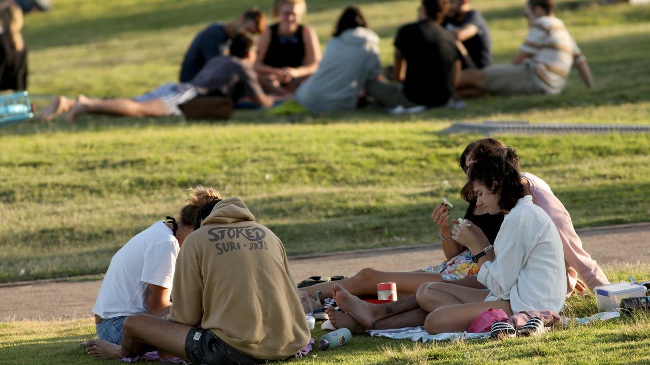 Young people have been warned to practice social distancing. Picture: Damian Shaw