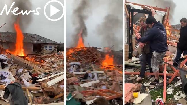 Raw video: Devastating scenes after massive Christchurch gas explosion
