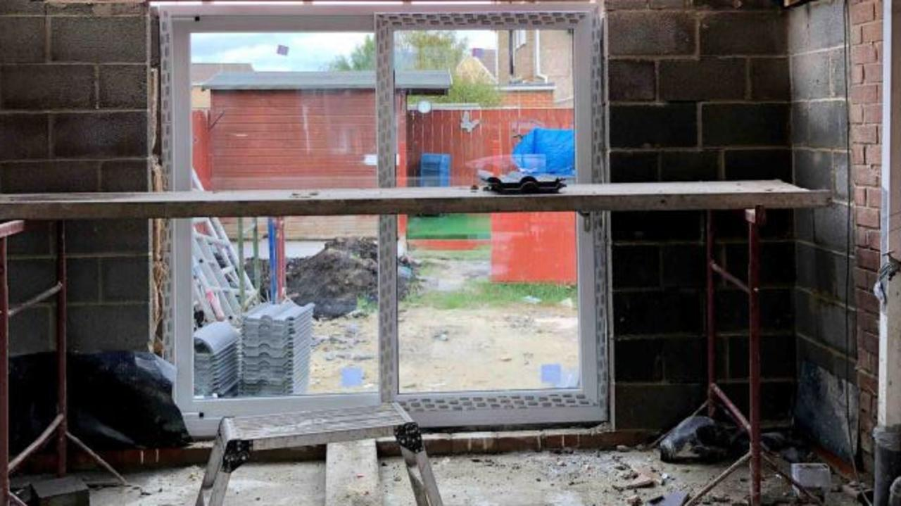 The couple's home was left looking like a building site. Picture: Evening Gazette/Australscope