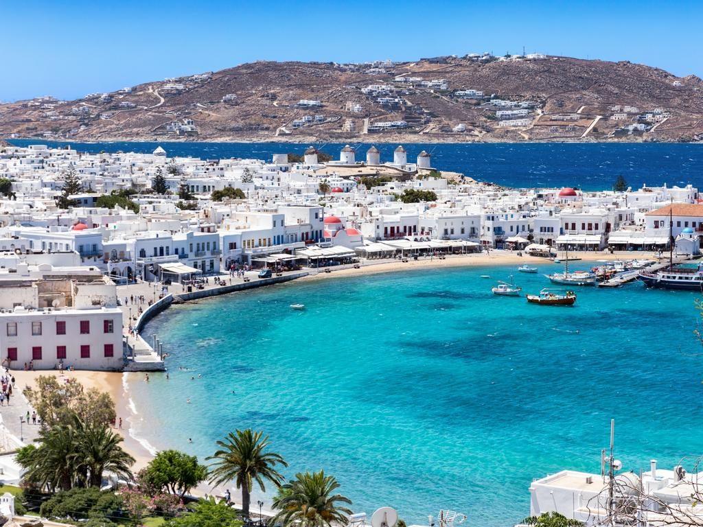 Mykonos is tipped to be the new epicentre for Greece. Picture: Celestyal Cruises
