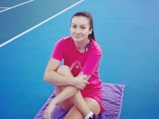 Dalila Jakupovic was forced to retire from the Australian Open after having a coughing fit due to bushfire smoke. Source: Instagram/DalilaJakupovic
