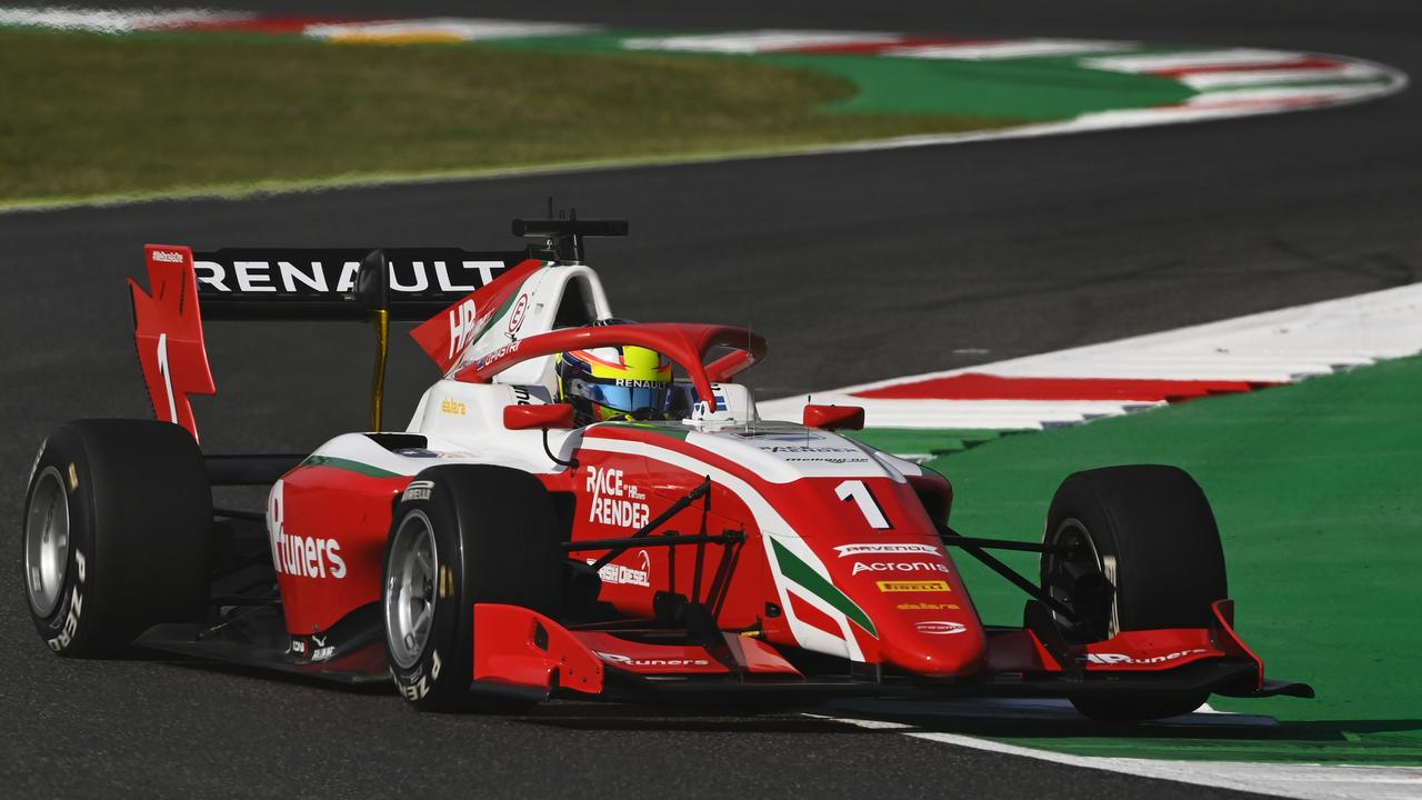 Oscar Piastri of Australia and Prema Racing drives during practice ahead of the Formula 3 Championship at Mugello Circuit on September 11, 2020 in Scarperia, Italy. Picture: Getty Images