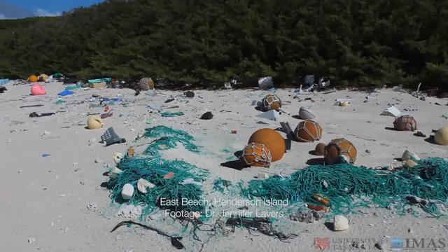 Researchers find 17 tonnes of plastic rubbish scattered on remote South Pacific island