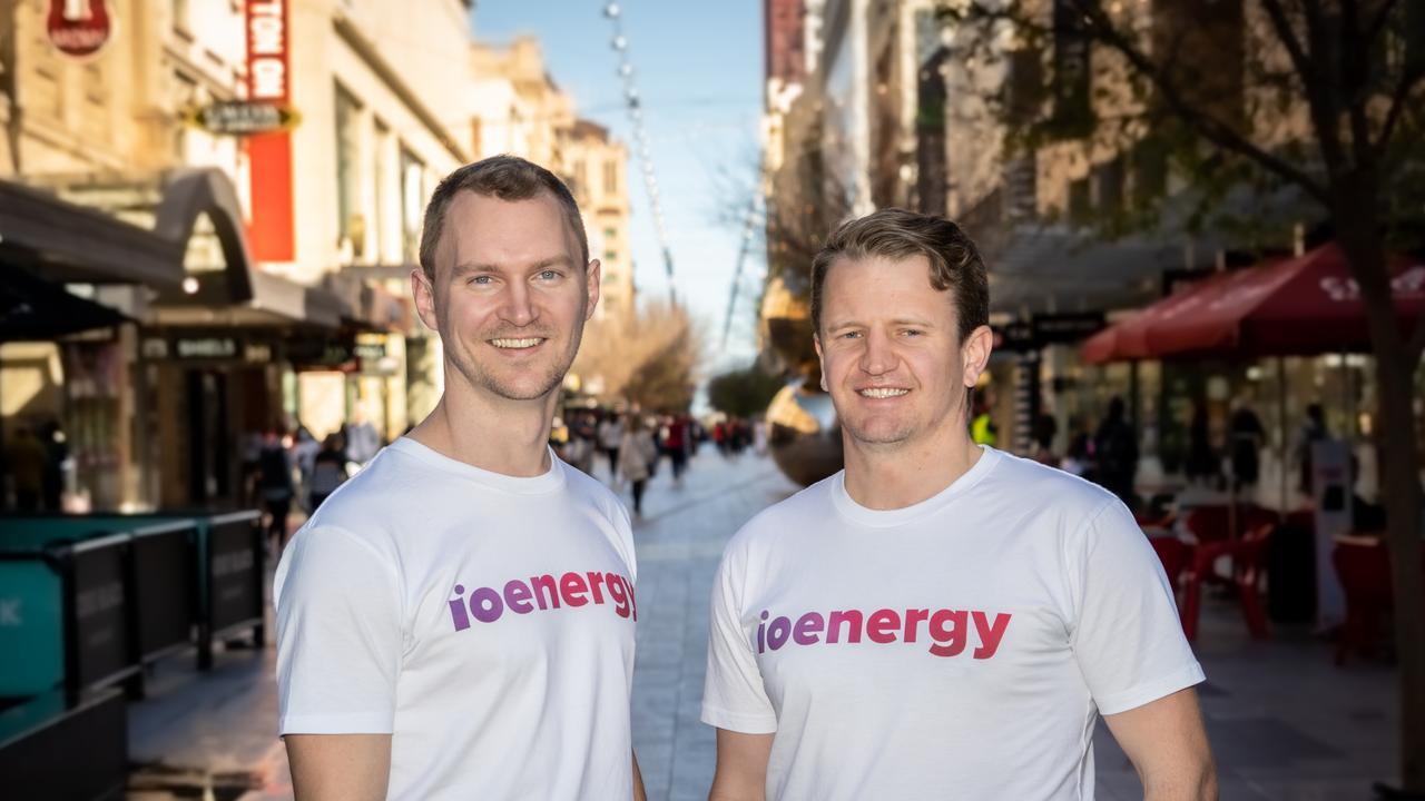 IO Energy founders Luke Morton and Rob Morris. Picture: Sebastian Rosa, supplied, by IO Energy