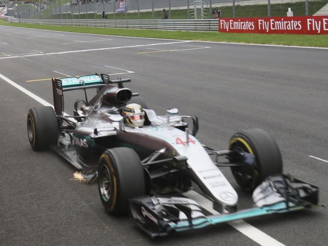 Hamilton got the better of Rosberg.