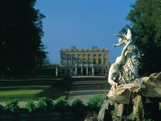 Exterior of the luxury Cliveden House hotel in Berkshire, England. Picture: Supplied