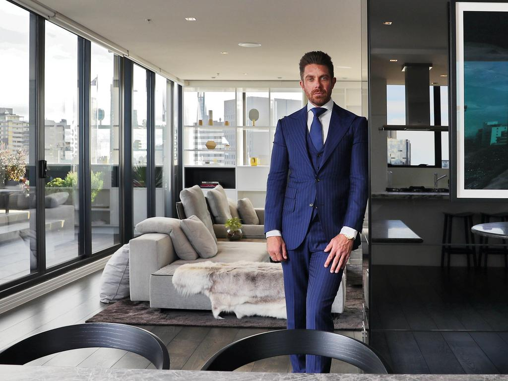 Property developer Jonathan Hallinan says he had to be willing to sacrifice everything to amass his fortune of $866 million. Picture: Aaron Francis/The Australian