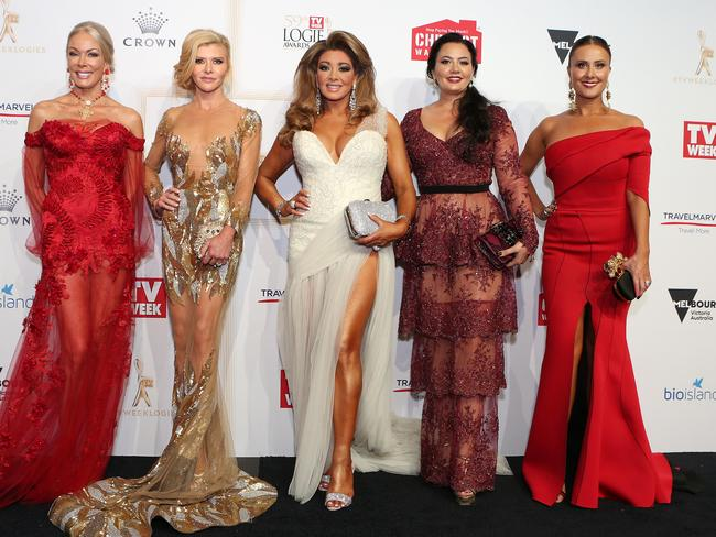 The Real Housewives of Melbourne on the red carpet. Picture: Julie Kiriacoudis